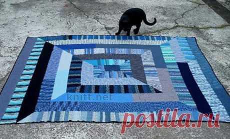 Плед-одеяло из 10 петель