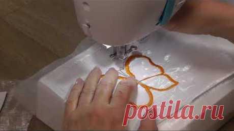 Вышиваем бабочку на органзе