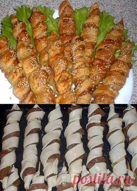Шашлычки из индейки с ананасами в слоеном тесте | Четыре вкуса