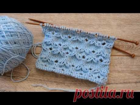 Узор для пуловера спицами 🐬 Free knitting pattern, Lace Stitches - YouTube