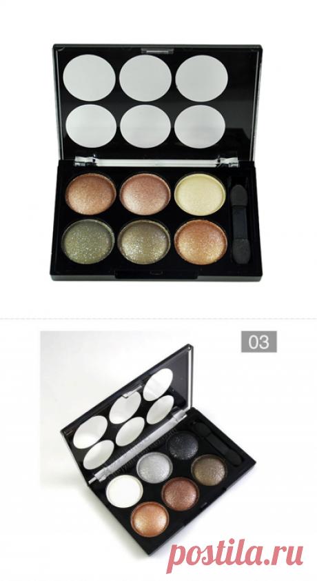 Компактная палетка теней по привлекательной цене - 140 рублей. Отличная пигментация. Идеальны для создания вечернего макияжа.