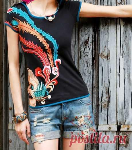 Экзотично. Декор одежды аппликациями и вышивкой в китайском стиле — HandMade