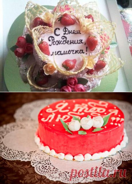 Надпись на торте в домашних условиях