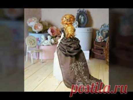 Изабель - текстильная подвижная кукла ручной работы
