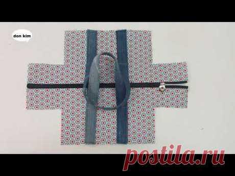 DIY 미니 보스턴 백 쉽게 만들기 mini boston bag - YouTube