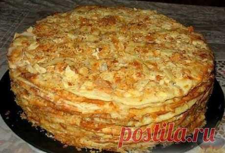 Торт «НАПОЛЕОН» — НАИВКУСНЕЙШИЙ СТАРИННЫЙ РЕЦЕПТ! Оцени еще один вариант знаменитого тортика!