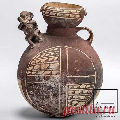Cосуд с обезьяной, Культура Чанкай (1000-1470 гг. н.э.) | A-Gallery