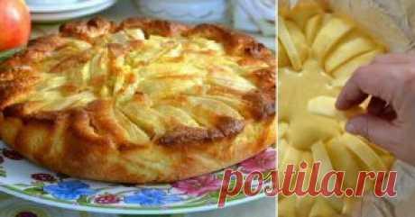 Деревенский яблочный пирог родом из Италии. Мягкое тесто, хрустящая корочка, начинка с кислинкой.
