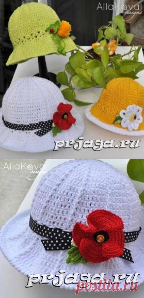 Los sombreros por el gancho del esquema de Alla Koval