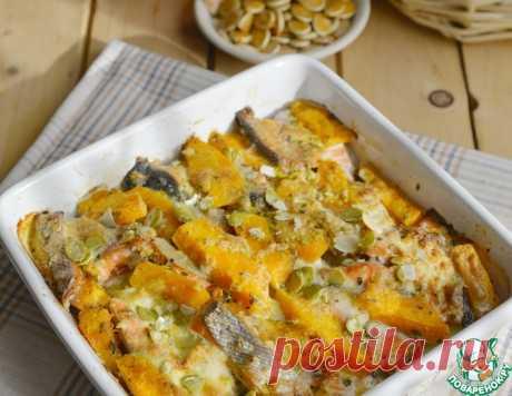 Лосось, запечённый с картофелем и тыквой – кулинарный рецепт
