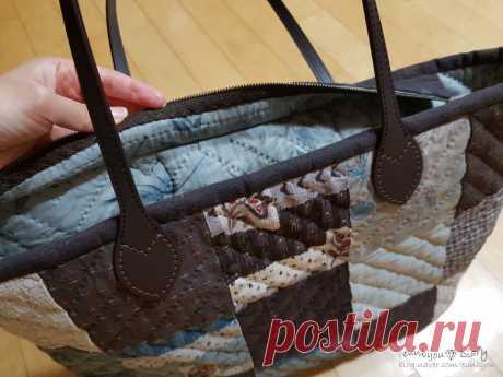 Лоскутная стёганая сумка подробный Мастер класс - запись пользователя любовь в сообществе Шитье в категории Пэчворк
