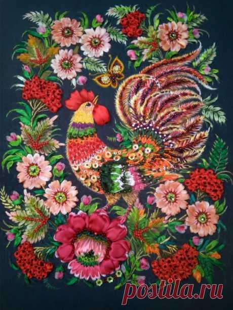 (8) Gallery.ru / Фото #1 - Вышивка по петриковской росписи Петушок - GalinaMasuyk