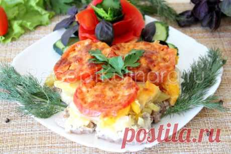Мясо по-французски с картошкой в духовке — пошаговый рецепт с фото