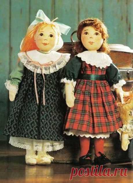 """Текстильные куклы """"Подружки""""- выкройка."""
