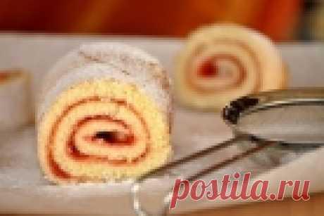 Бисквит для рулета - пошаговый рецепт с фото на Повар.ру