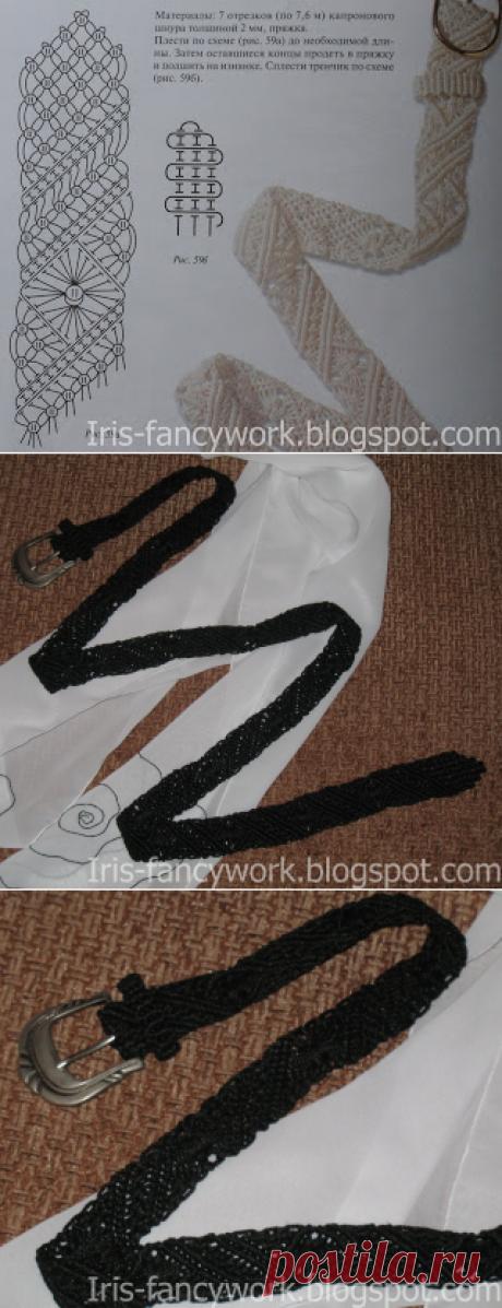 My Fancywork Blog: Черный пояс в технике макраме.