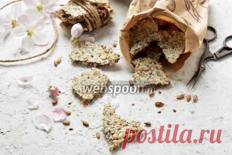 Крекеры с семенами  Крекеры с семенами льна  Крекеры — достаточно полезное печенье, которое готовится очень быстро, а съедается ещё быстрее. В состав такого крекера входят полезные семена льна, чиа, мака, кунжута и подсолнечника.