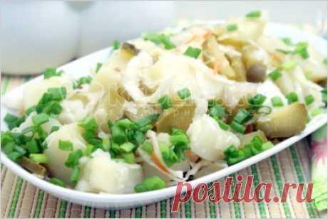 Салат «Деревенский» – Рецепты. Постные рецепты