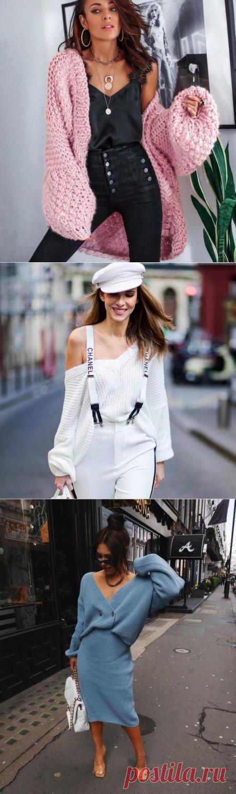 Модные вязаные вещи 2020-2021 - вязаная одежда, фото, тренды