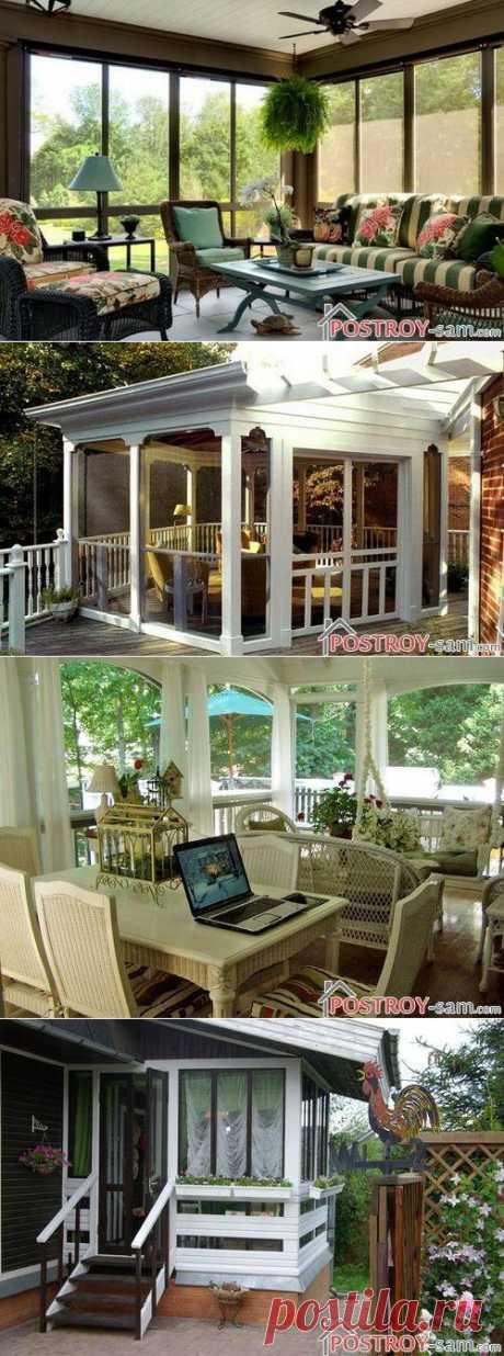 Дачный дом с верандой: красиво, практично, уютно, фото