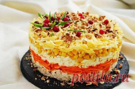 Слоёный салат «Фантазия» на праздничный стол — МОЯ КУХНЯ