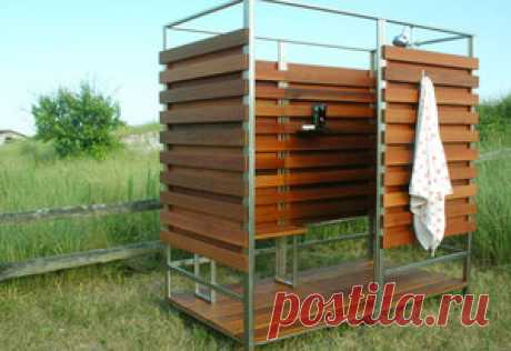 How to make a summer shower with own hands: types, the description and construction of a shower cabin at the dacha