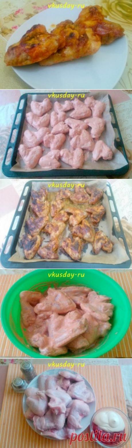 Куриные крылья в розовом маринаде | Вкусный день
