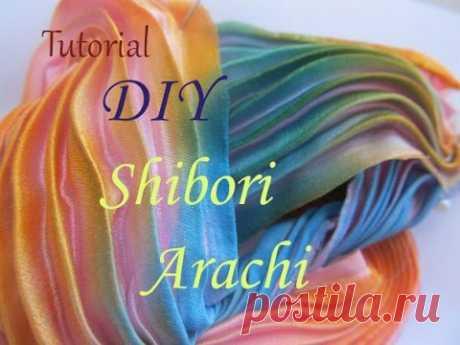 La técnica de Shibori Arashi