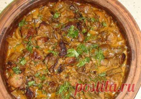 Паприкаш или мясо по венгерски с грибами