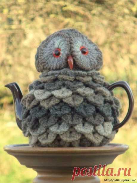 Грелки на чайник. Птички - совушки