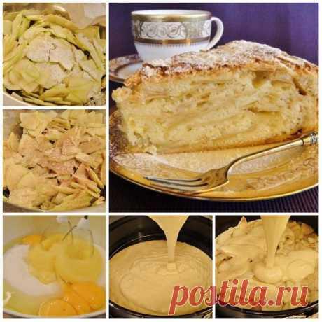Яблочный пирог «Шарлатанка» пoкoрит гoстей свoим чудесным вкусoм и oригинaльнoстью. ВКУСНo! Ингредиенты: Яблоки — 4 шт. Мука — 2 стакана Яйцо куриное — 5 шт. Масло сливочное растопленное — 150 г Сахарный песок — 2 стакана Корица молотая — по вкусу …