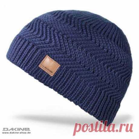 """Мужская шапка узором """"Зигзаг"""""""