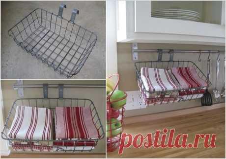 6 удобных идей для хранения полотенец в кухне