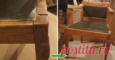 Мастер-класс : Реставрируем старое кабинетное кресло