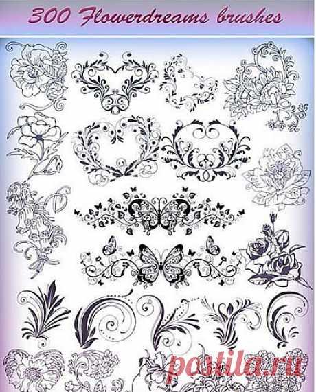 300 Кистей для фотошоп - Flower Dreams » RandL.ru - Все о графике, photoshop и дизайне. Скачать бесплатно photoshop, фото, картинки, обои, рисунки, иконки, клипарты, шаблоны.