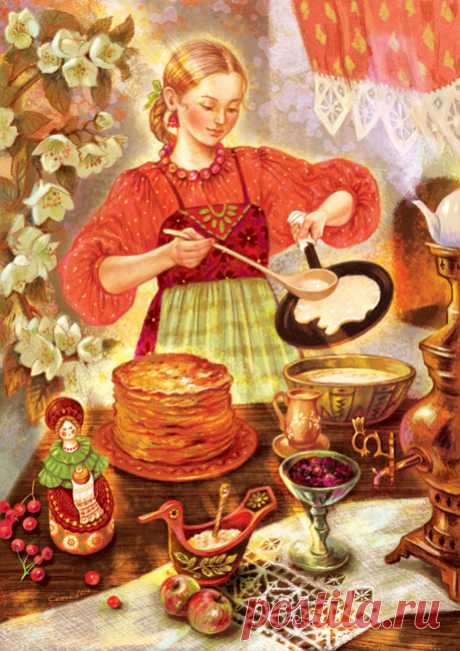 Иллюстрация Блины.  Таня Сытая / Tanya Sitaya