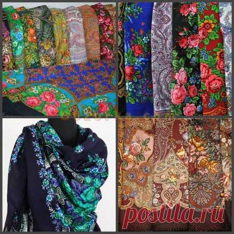 Павловопосадские платки и шали