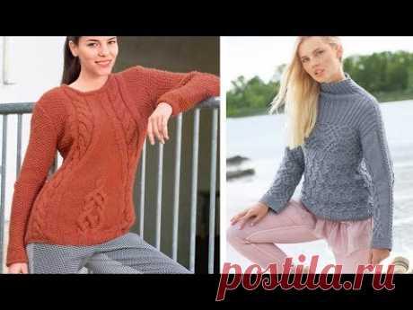 Новые Пуловеры Спицами - 2018 / New Pullovers with Knitting Needles