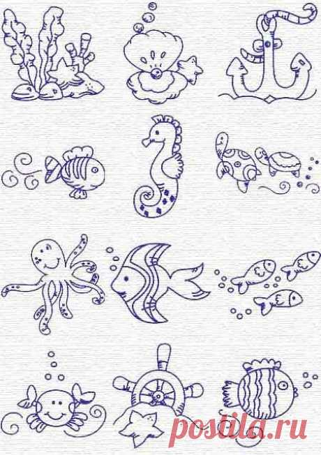 Пин от пользователя Laurence Chaumuzeau на доске Broderie ♥ Dessins Schémas   Грифонаж, Дизайны Вышивки и Морская Тематика