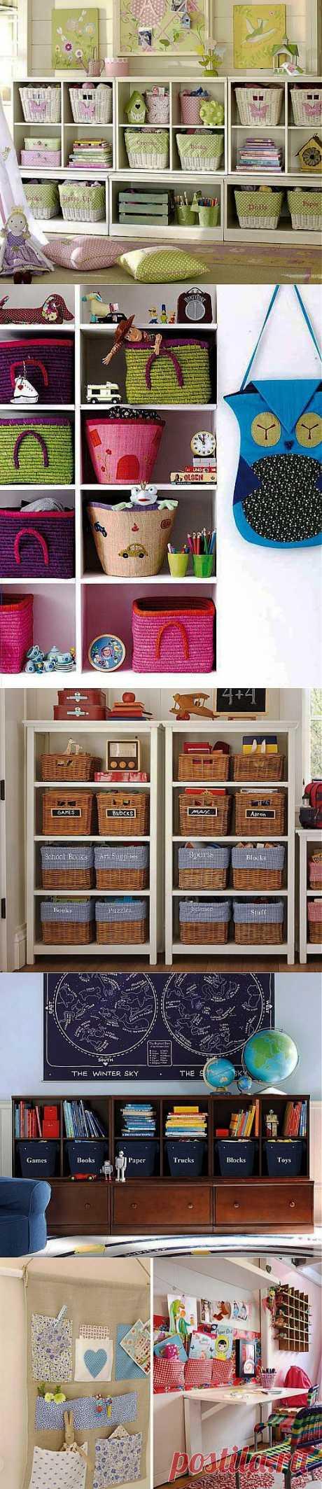 (+1) тема - Идеи хранения игрушек в детской комнате   Интерьер и Дизайн