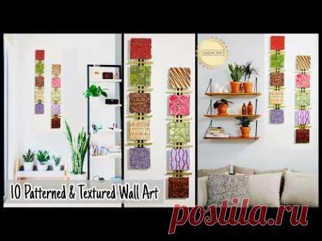 10 Textured & Patterned Wall Hanging Craft Idea|gadac diy| Home Decorating Ideas| DIY Room Decor