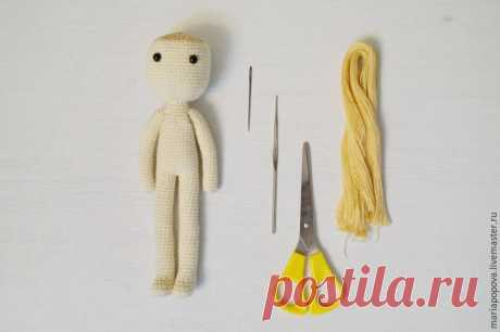 Hacemos los cabellos a la muñeca tejida - la Feria de los Maestros - la labor a mano, handmade