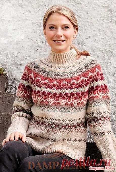 Пуловер с круглой кокеткой «Mistletoe Muse». Спицы. - ВЯЗАНАЯ МОДА+ ДЛЯ НЕМОДЕЛЬНЫХ ДАМ - Страна Мам
