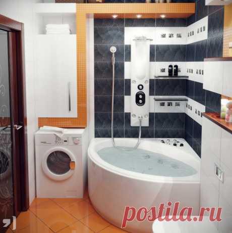 Дизайн ванной комнаты 3 кв. м с туалетом и стиральной машиной: фото, планировка | DomoKed.ru