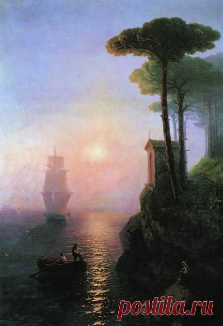 Foggy morning in Italy | Sea mood: 15 majestic and emotional masterpieces of Ivan Ayvazovsky