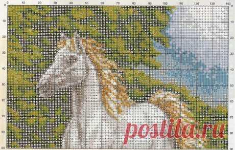 Вышивка крестом лошади: схемы и описание работы