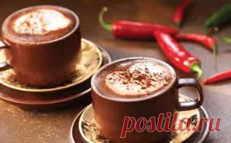 Горячий шоколад с чили - это отличный согревающий и бодрящий напиток для холодных вечеров.