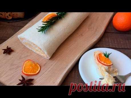 Рулет с апельсиновым кремом ❤ Cooking with Love