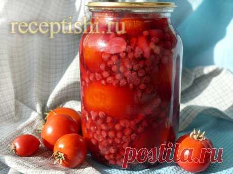 Помидоры, маринованные с красной смородиной   Кулинарные рецепты с фото