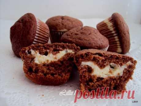 Как приготовить шоколадные маффины с кремом - рецепт, ингредиенты и фотографии
